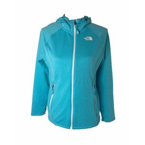 ~Girls size XL north face full zip blue hooded top